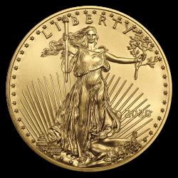 Aigle américain 1/2 OZ or diverses années