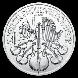 Philharmonique 1 OZ argent diverses années