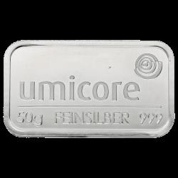 Lingot Umicore 50gr argent