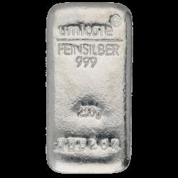 Lingot Umicore 250gr argent
