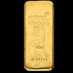 Lingot d'or Umicore certifié de 1000 gramme