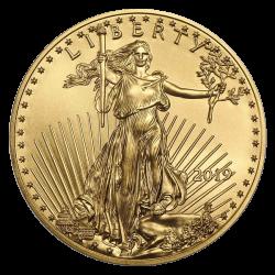 Aigle américain 1 OZ or diverses années
