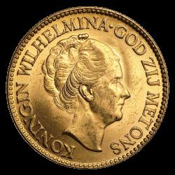 10 florins néerlandais or diverses années