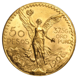 50 pesos mexicains or diverses années