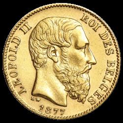 20 francs belges or diverses années