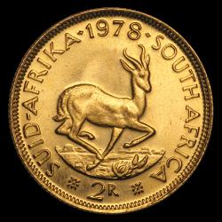2 rands sud-africains or diverses années
