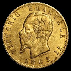 20 lires italiennes or diverses années