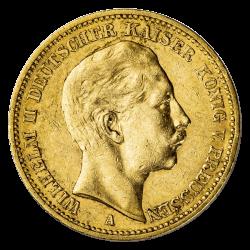 20 marks allemands or diverses années