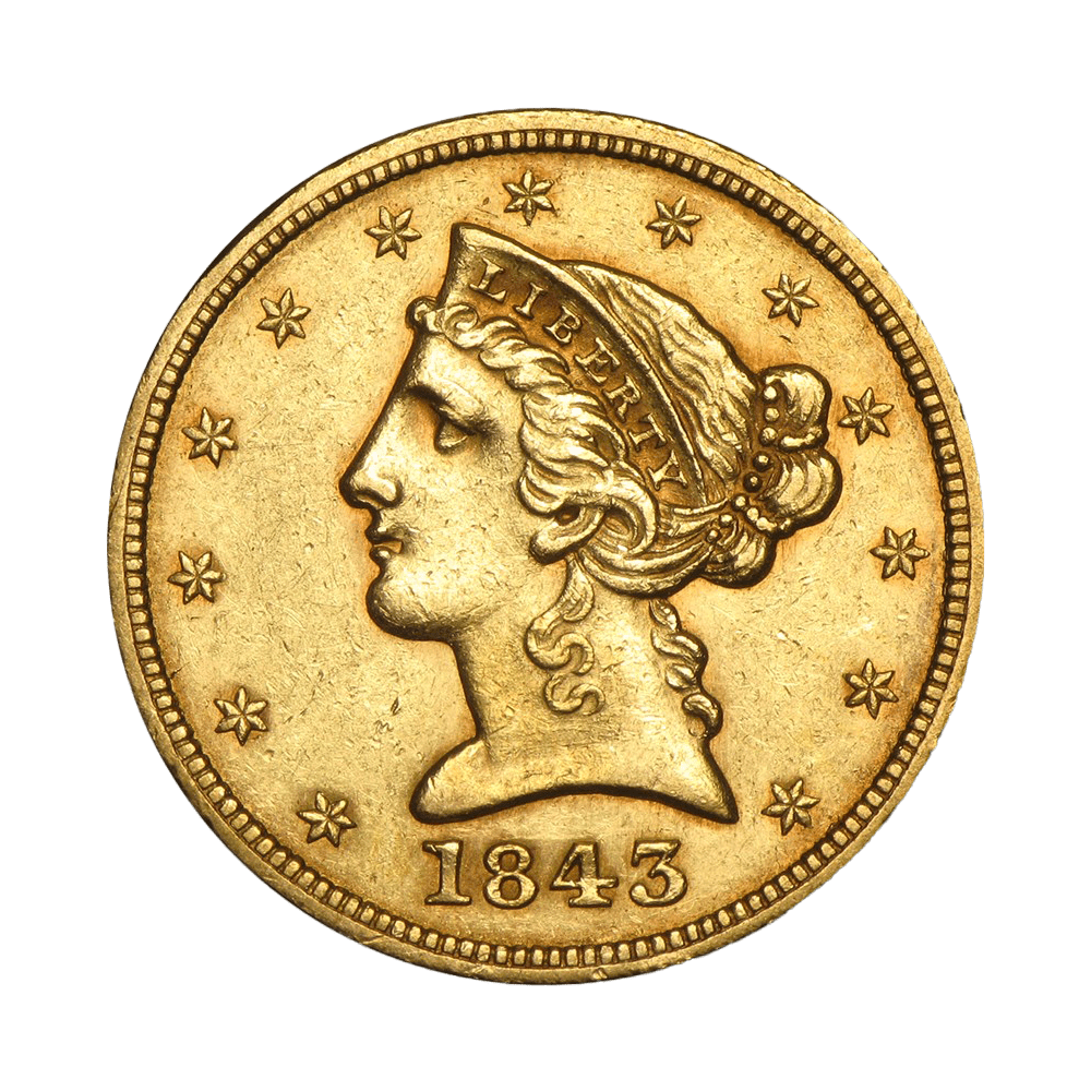 5 dollars USA or diverses années