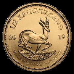 Krugerrand en or 1/2 once troy années différentes