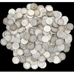 5 kilo net. argent pur en pièces néerlandaises diverses années