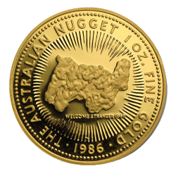 Nugget en or 1 once troy années diverses